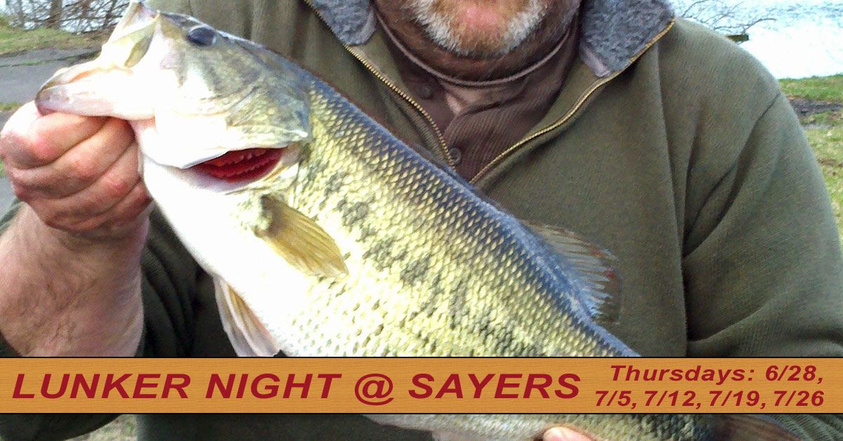 Open Lunker Tournaments 2018 at Sayers